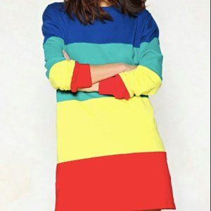 Nasty Gal Look on the Bright Side Sweater Dress XS